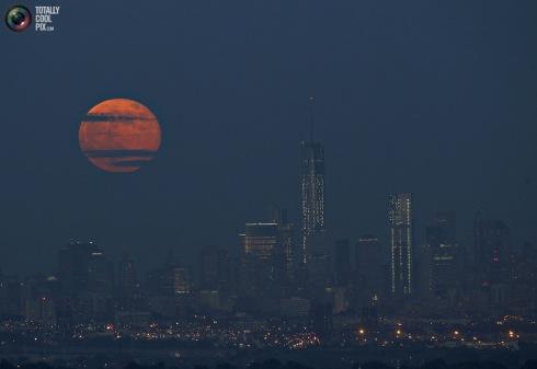 moon cityscape