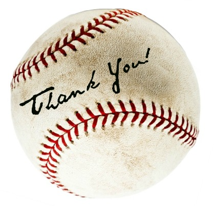 written on baseball-thank-you